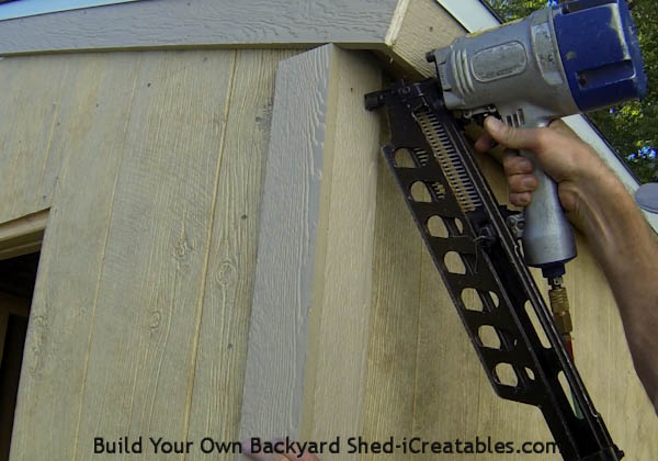 How to install exterior trim nailing the corner trim on
