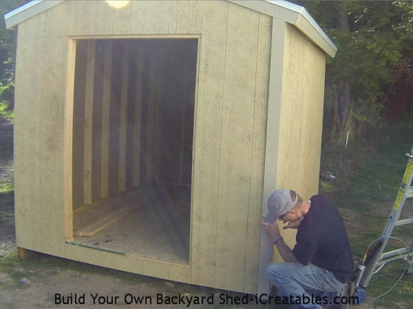How to install exterior trim on the shed end corners