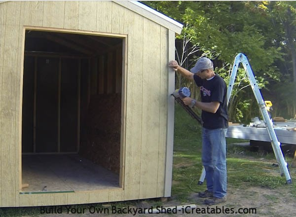 How to install exterior trim on the storage shed corners