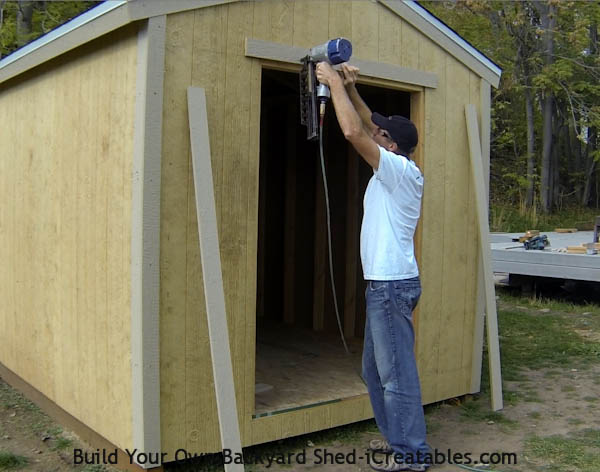 How to install exterior trim  shed door opening