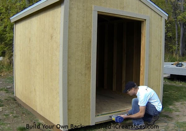 How to install exterior trim around the shed door