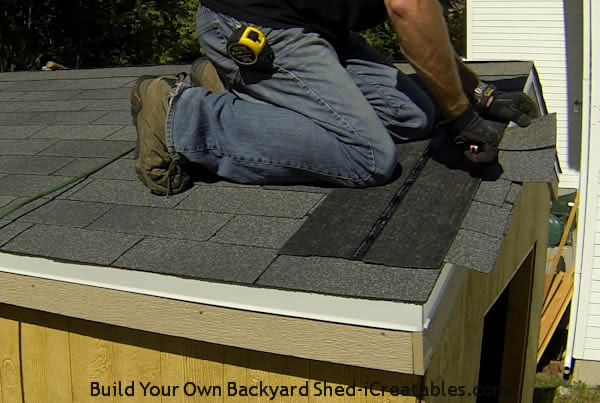 How to install asphalt shingles cut shingle ends