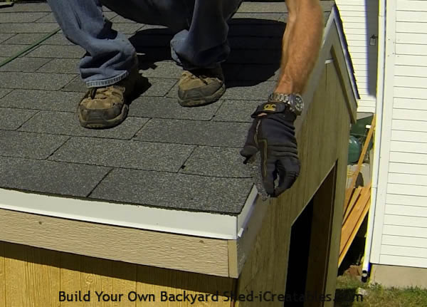 How to install asphalt shingles rubbing ends of cut shingles