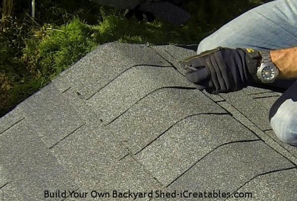 how to cut ridge caps from cedar shingles
