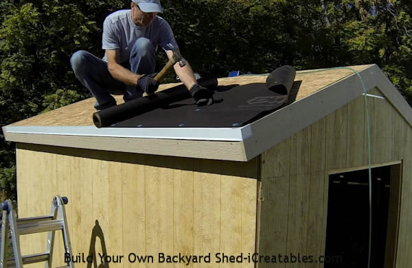 Build Shed Step By Step How To Put Tar Paper On A Shed Roof