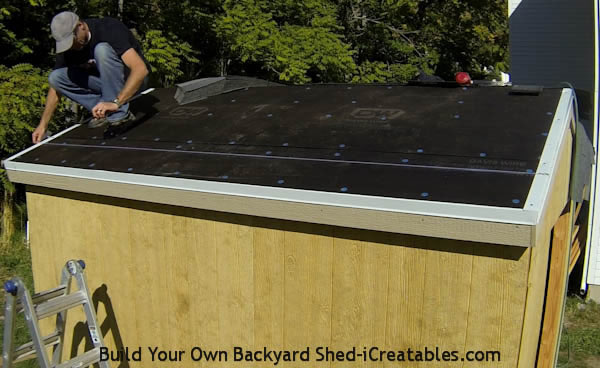 How To Build A Shed: Install Roof Shingles