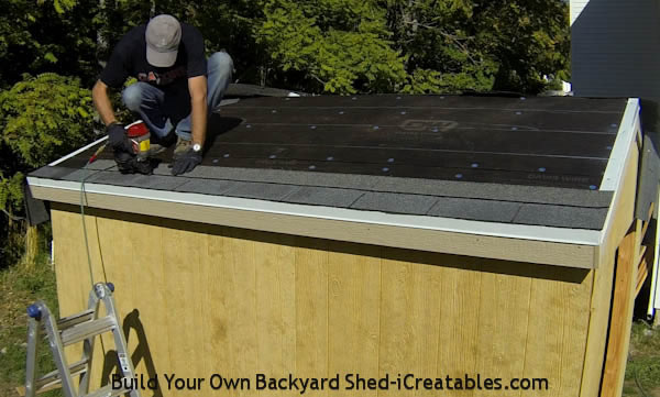 How to install asphalt shingles install first row of shingles