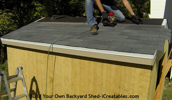 How to install asphalt shingles install 6 rows of shingles