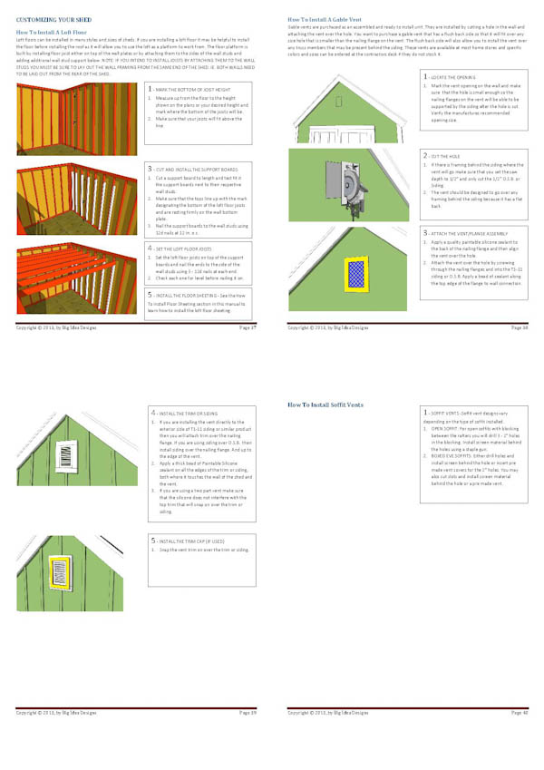 How To Build a Shed Book pages 37-40