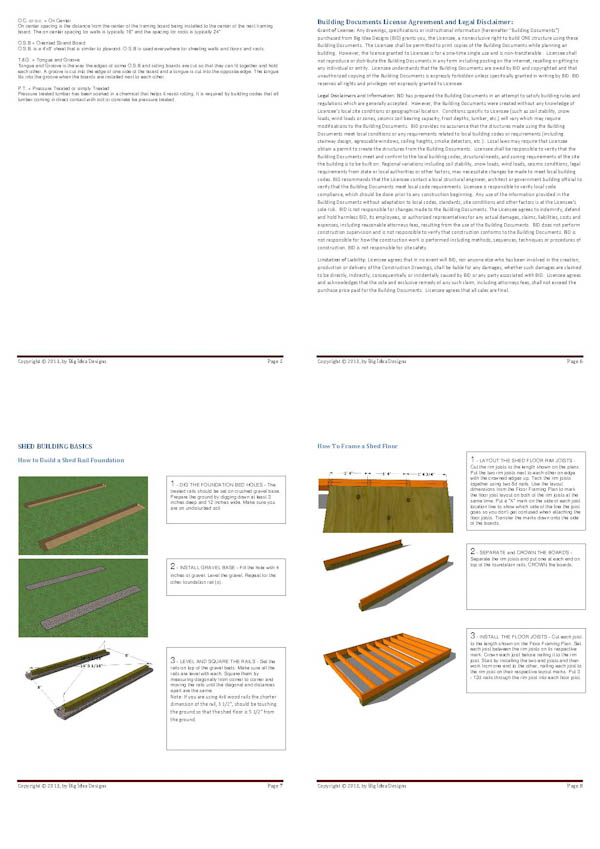 How To Build a Shed Book pages 5-8