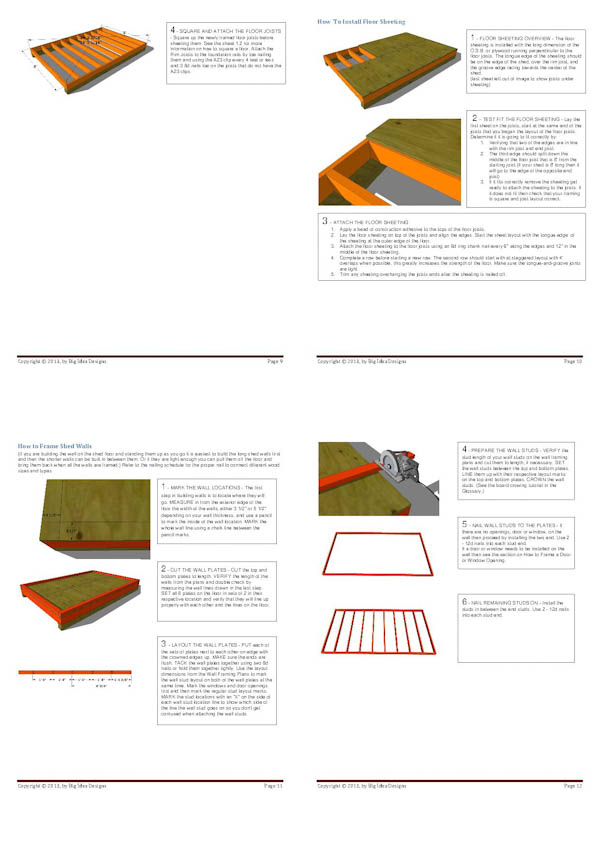 How To Build a Shed Book pages 9-12