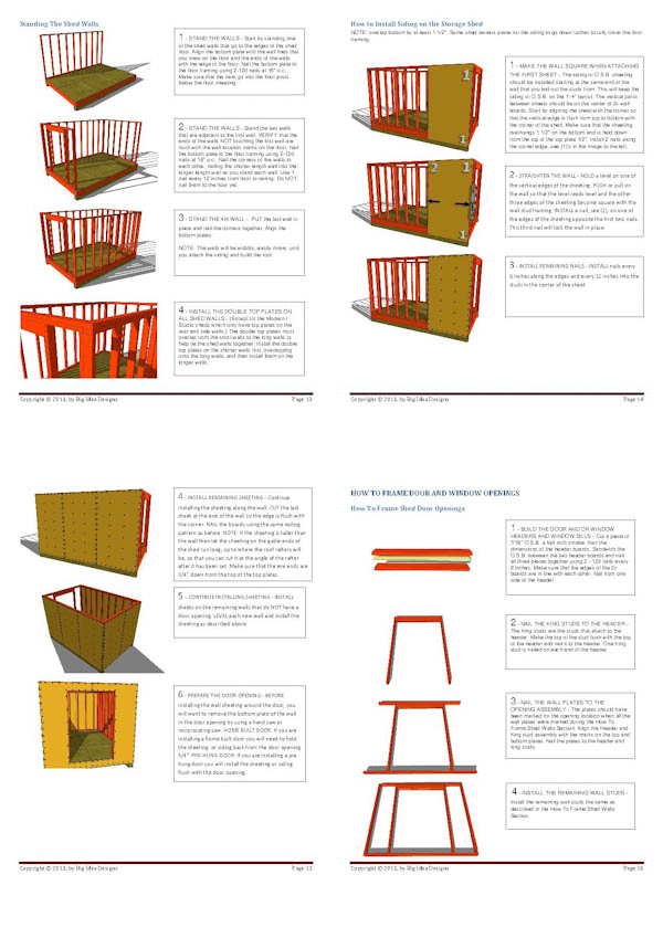 How To Build a Shed Book pages 13-16