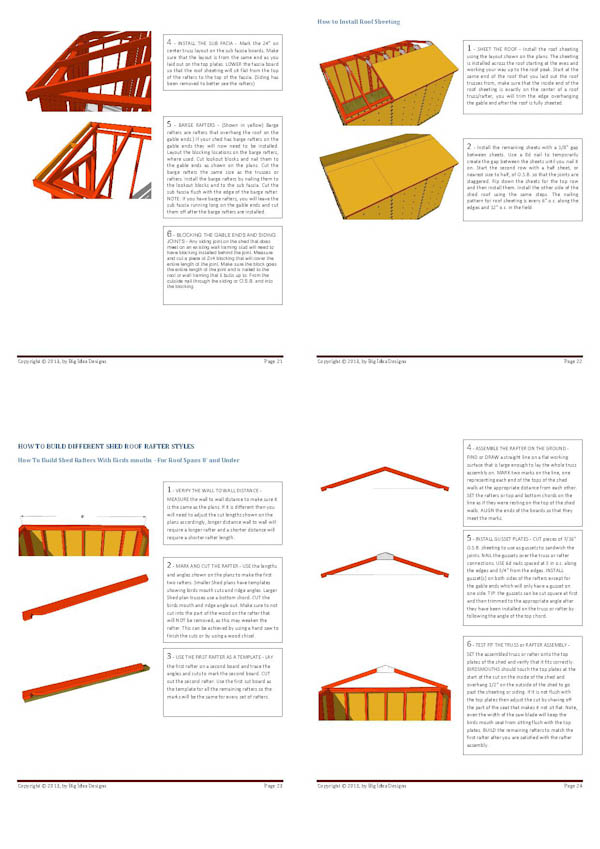 How To Build a Shed Book pages 21-24