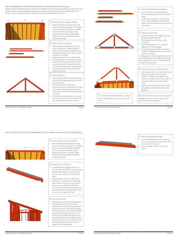 How To Build a Shed Book pages 25-28