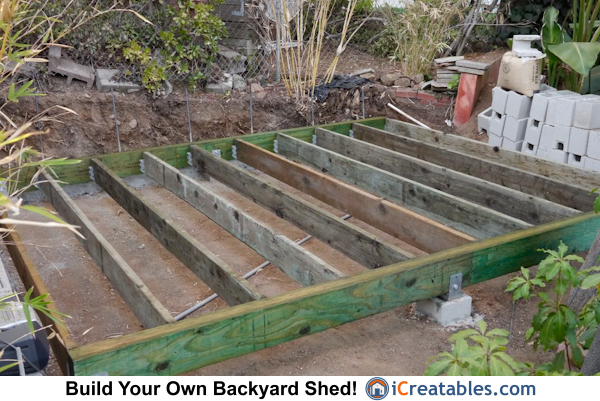 Build shed foundation for How to build a modern shed