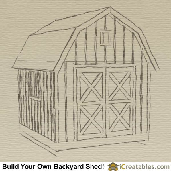 Gambrel Shed Roof