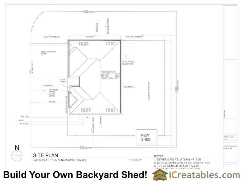 Draw a plot plan of your house for Plot plan drawing
