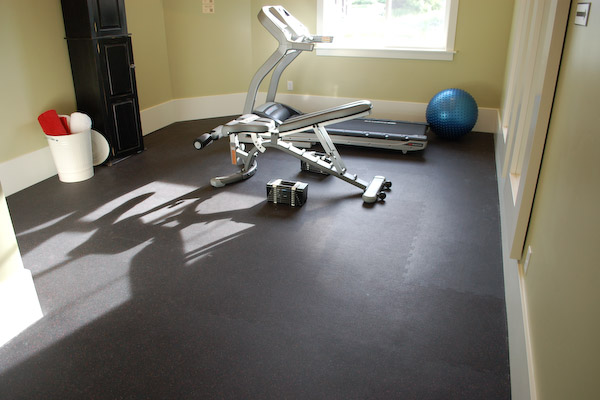 exercise room rubber floor