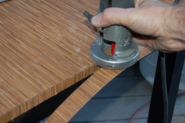 trimming plastic laminate formica