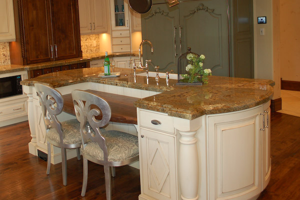 Old world kitchen island
