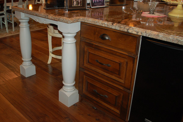 french country kitchen island sitting idea