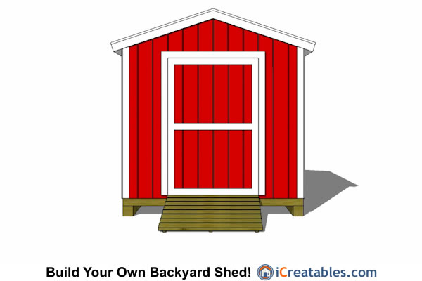 2400x3000-B-metric-shed-plans-2.4x3 meter shed end door
