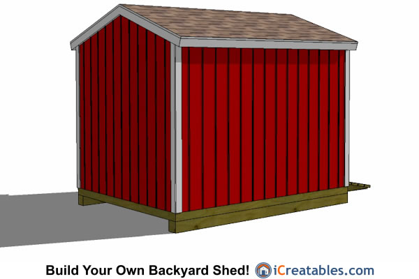 2400x3000-B-metric-shed-plans-2.4x3 meter shed rear view