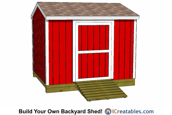 2400x3000-B-metric-shed-plans-2.4x3 meter shed side door