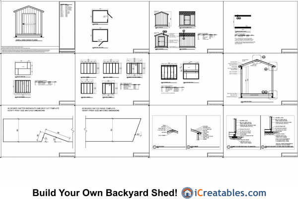 10x10 gable shed plans example