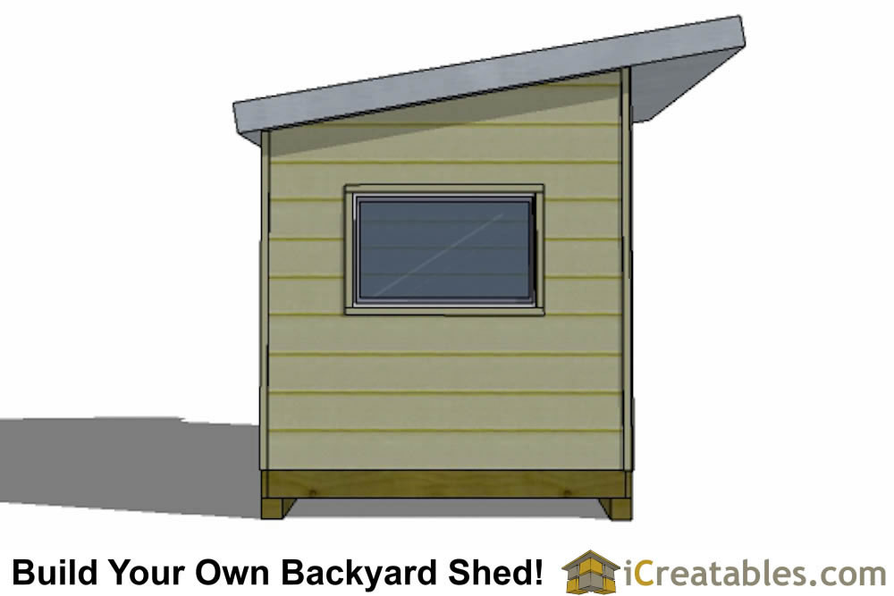 2400x4800 mm modern shed plan with flat roof front elevation