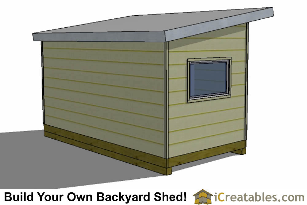 2400x4800 mm modern shed plan with flat roof front