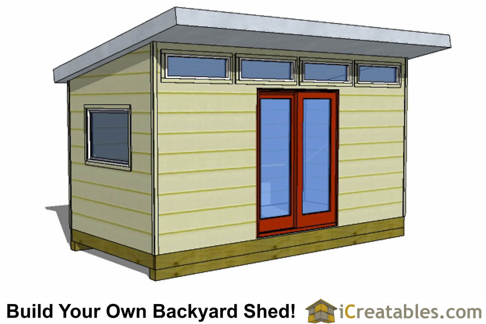 2400x4800 mm 12 square meter modern shed plans with flat roof