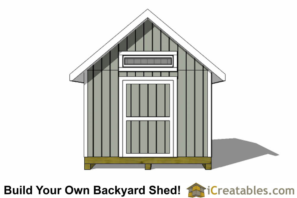 3000x3600-metric shed plans end elevation
