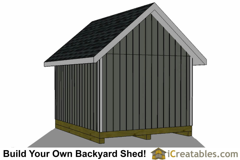3000x3600-metric shed plans rear elevation