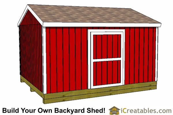 3600x4800 mm garden shed plans