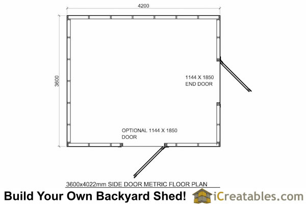 2400x3000-B-metric-shed-plans-2.4x3 meter shed floor plans