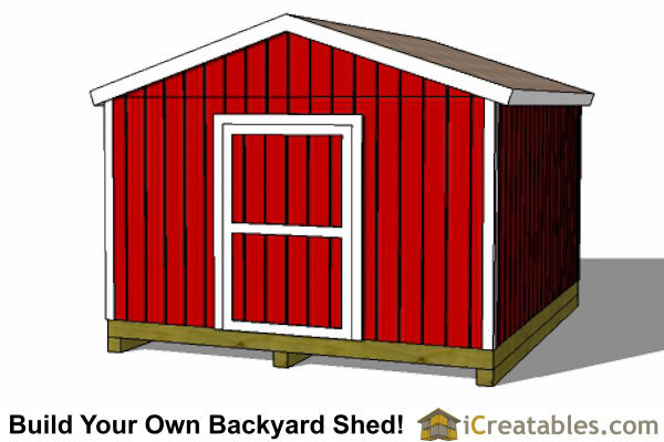 2400x4800-B-metric-shed-plans-2.4x3 meter shed end door