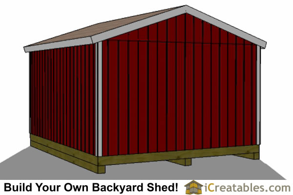 2400x4800-B-metric-shed-plans-2.4x3 meter shed side door