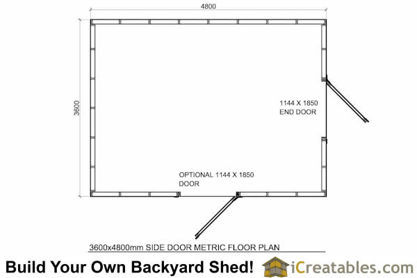 2400x4800-G-metric-shed-plans-2.4x3 meter shed floor plans