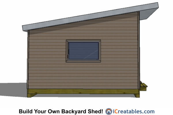 14x10 modern office shed plans