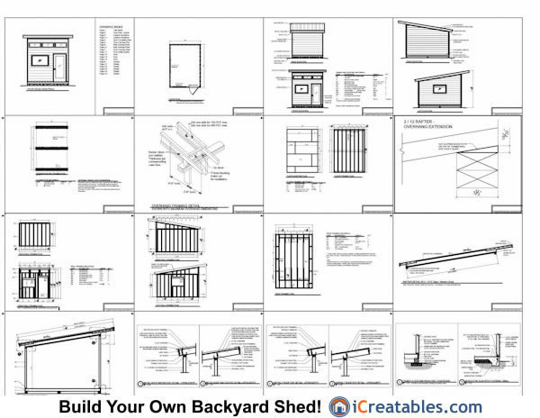 14x10 modern shed plans