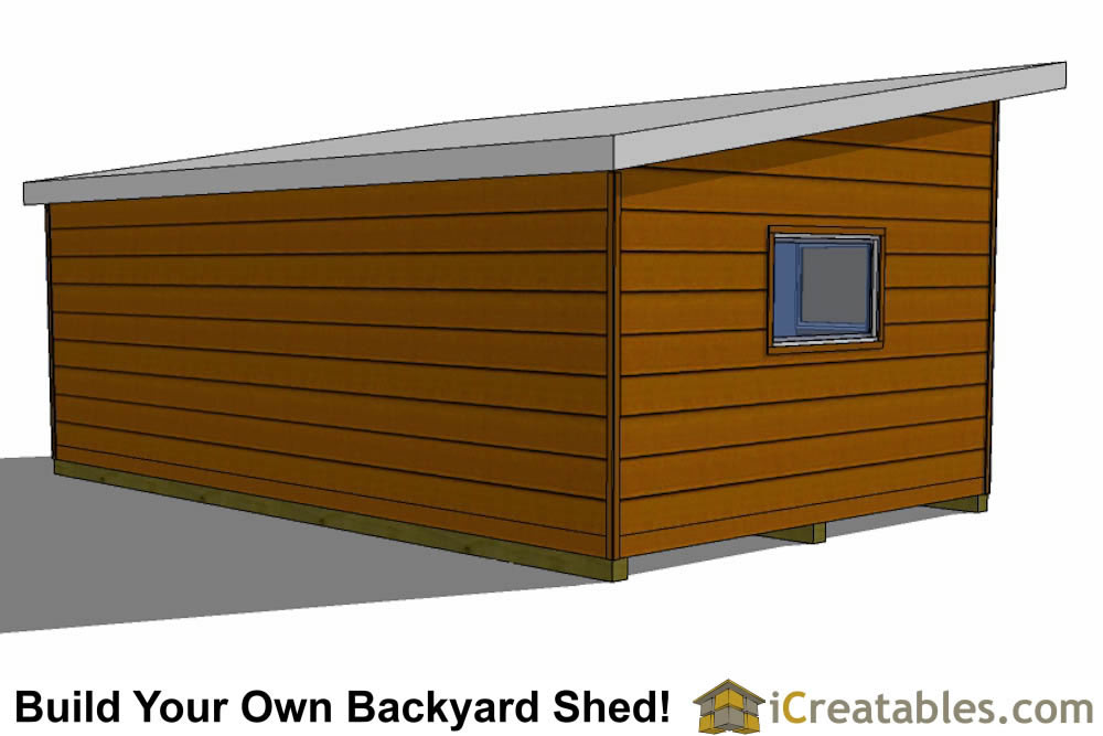 14x24 Modern Studio Shed Plans Icreatables