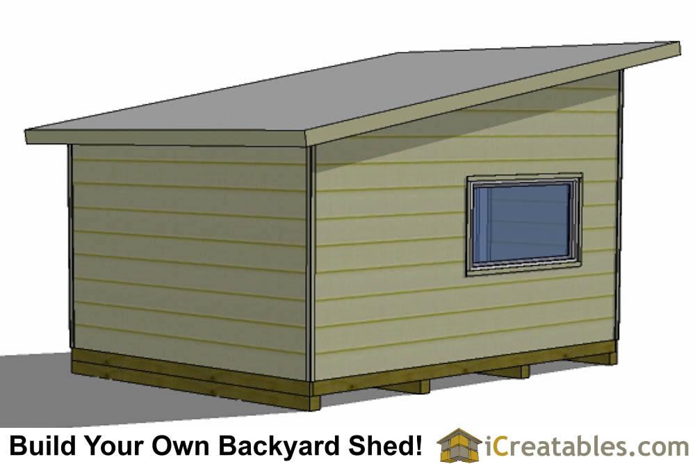 16x12 Modern Studio Shed Plans