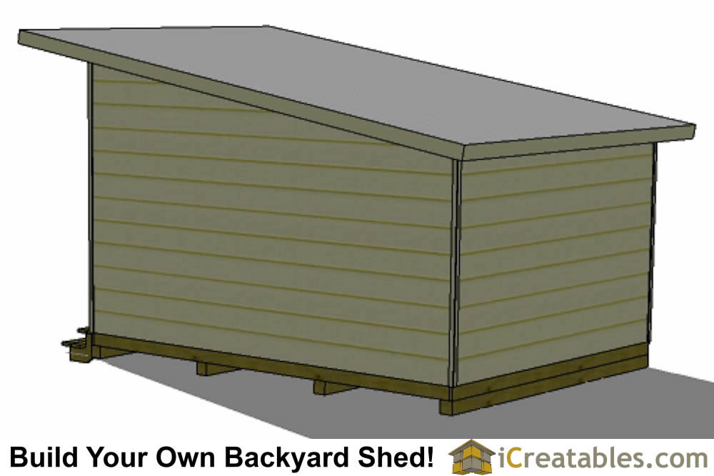 16x12 office shed plans right side
