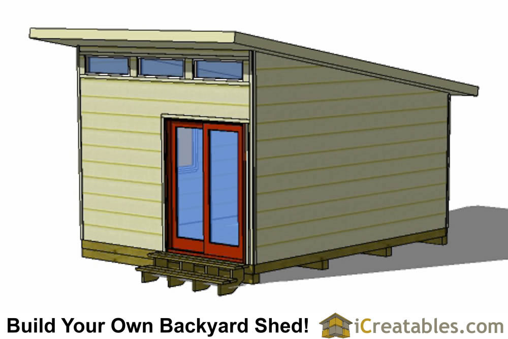 16x12 modern shed plans - office shed plans right