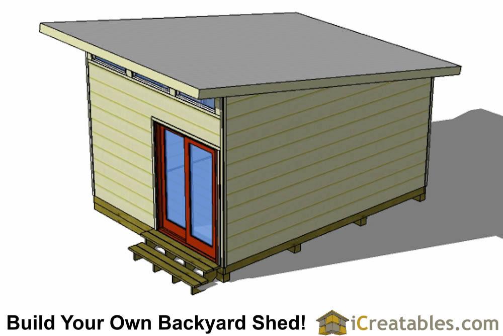 16x12 modern studio shed plans for Modern shed siding