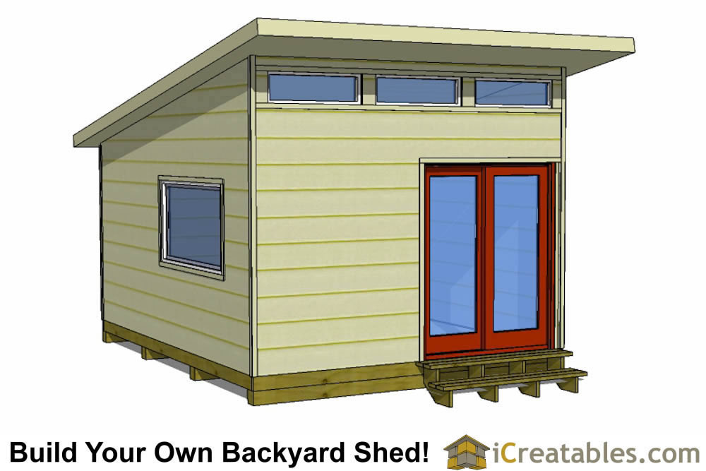 16x12 modern shed plans - office shed plans