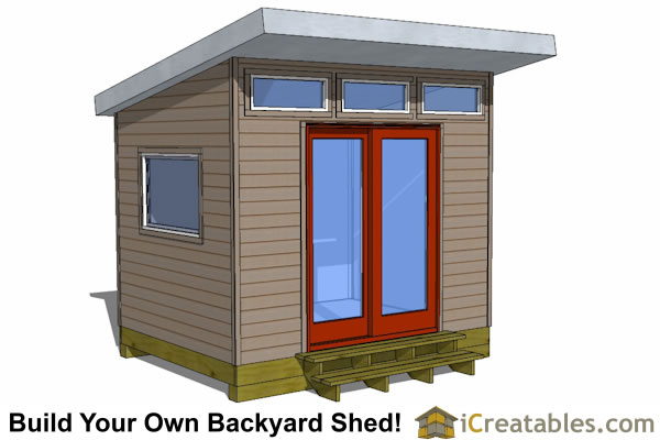 Modern shed plans modern diy office studio shed designs for Design your own metal building home