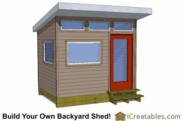 8x10 shed plans diy storage shed plans building a shed for Modern shed plans