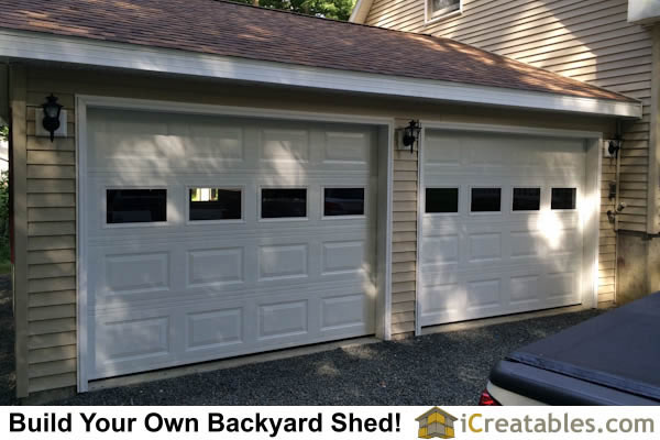 The finished garage attached to the house. It looks like it was part of the original construction.